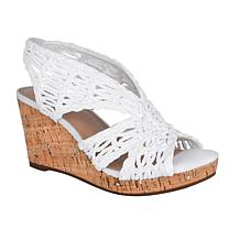 Impo Terinee Woven Raffia Wedge Sandal with Memory Foam