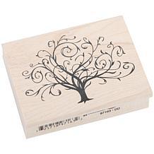 Inkadinkado Rubber Stamp - Flourished Fall Tree
