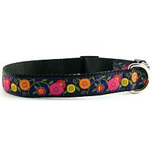 Isabella Cane Woven Ribbon Dog Collar - Purple Flowers