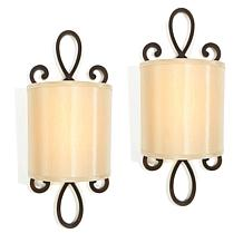 It's Exciting Lighting 2-pack Battery Powered LED Wall Sconce