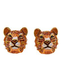 """JAY Jay Strongwater """"Call of the Wild"""" Tiger Earrings"""