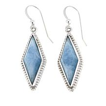 Jay King Aquamarine Sterling Silver Diamond-Shaped Drop Earrings