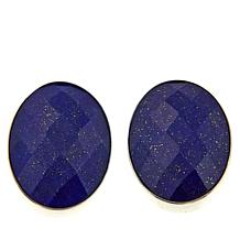Jay King Lapis Oval Sterling Silver Stud Earrings