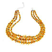 "Jay King Multicolor Amber and Turquoise Chip 18"" Necklace"