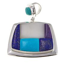 Jay King Multigemstone Inlay Sterling Silver Pendant