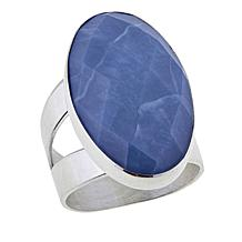 Jay King Oval-Cut Dream Blue Opal Sterling Silver Ring