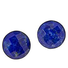 Jay King Sterling Silver Faceted Lapis Stud Earrings
