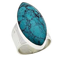 Jay King Sterling Silver Hubei Turquoise Marquise Ring