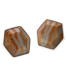Jay King Sterling Silver Java Lace Agate Stud Earrings