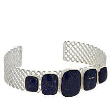 Jay King Sterling Silver Lapis 5-Stone Cuff Bracelet
