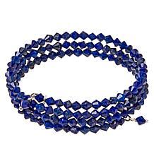 Jay King Sterling Silver Lapis Bead Coil Bracelet