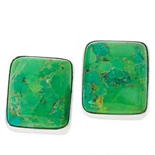 Jay King Sterling Silver Lemon Lime Turquoise Stud Earrings
