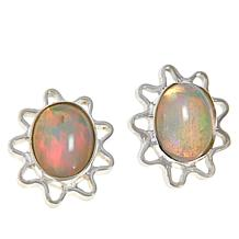 Jay King Sterling Silver Opal Oval Stud Earrings