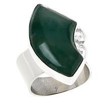 Jay King Sterling Silver Swazi Green Stone Quartz Ring