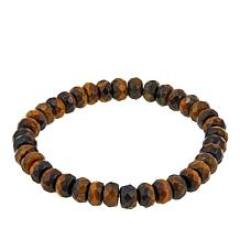 "Jay King Tiger's Eye Beaded 7"" Stretch Bracelet"