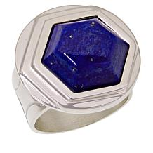 Jay King Trapezoid Lapis Sterling Silver Ring