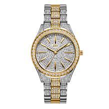 "JBW ""Cristal"" Women's 2-Tone 12-Diamond Bracelet Watch"