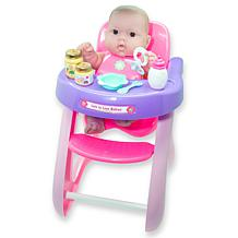 """JC Toys Lots to Love Babies 14"""" Baby Doll and High Chair Gift Set"""