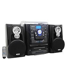Jensen JMC-1250 Turntable Stereo System w/Dual Cassette & 3-CD Changer