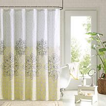 Jessica Printed Shower Curtain and Hook Set