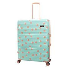 Jessica Simpson French Dot 28-inch Hardside Luggage - Mint