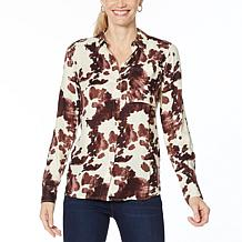 Jessica Simpson Petunia Button-Down Printed Shirt