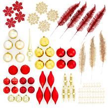 JOY 90-piece Holiday Elegance Shatterproof Ornament Set