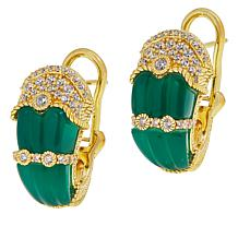 Judith Ripka Carved Gemstone and Diamonique® Earrings