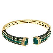 Judith Ripka Green Goddess Multigemstone Cuff Bracelet