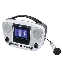 Karaoke Night KN105 Portable Karaoke Machine w/Screen, Microphone & CD