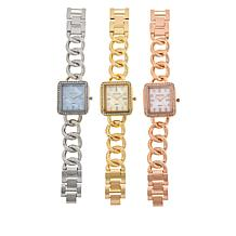 Kessaris 3-piece Crystal-Accented Mother-of-Pearl Dial Watch Set