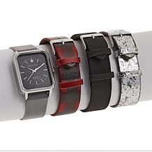 Kessaris Diamond-Accented Watch with Interchangeable Straps