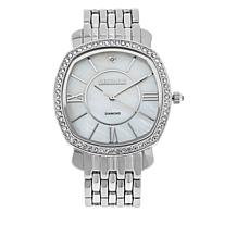 Kessaris Mother-of-Pearl Dial Diamond Accent Watch