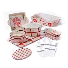 """Kimberly Schlapman """"Love and Daisies"""" 14pc Bakeware Set"""