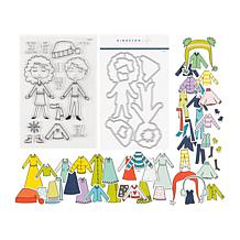 Kingston Crafts Holiday Paper Doll Stamp and Die Set
