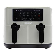 Kitchen HQ 10-in-1  9-Quart Dual Air Fryer with Kebabs