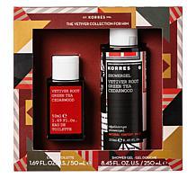 Korres 2-piece Vetiver Mens Fragrance Set