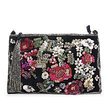 LaBellum by Hillary Scott Beaded Velvet Handbag