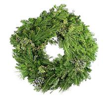 "Leaf & Petal Designs 24"" Mixed Evergreen Wreath"