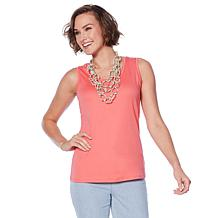 Lemon Way Perfect Pima Scoop-Neck Tank