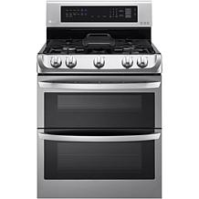 LG 6.3 Cu. Ft. Gas Double Oven w/Griddle Plate - Steel