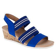 LifeStride Sunshine Cork Wedge Stretch Sandal