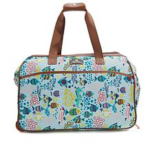 Lily Bloom Wheeled Duffle Bag - Aquarium Life