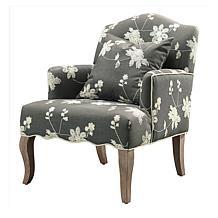 Linon Home Dixie Floral Arm Chair - Gray