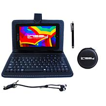 "LINSAY 7"" 16GB Android 10 Tablet with Keyboard Case"