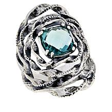 LiPaz Floral Sterling Silver Fluorite Ring
