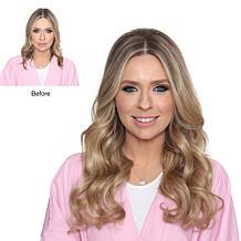 "Locks & Mane Butter Pecan 18"" Clip-In Human Hair Extensions"