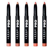 LORAC 5pc PRO Satin Lip Color Set