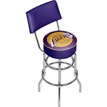 Los Angeles Lakers Padded Swivel Bar Stool with Back