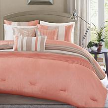 Madison Park Amherst 7-piece Coral Comforter Set